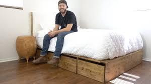 Bed Platform With Storage Platform With Storage Maxresdefault Diy Modern Builds Ep Bed