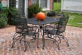 image of black cast iron outdoor furniture