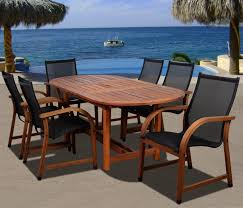 Patio Dining Set by Amazon Com Amazonia Bahamas 7 Piece Eucalyptus Oval Dining Set