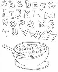 soup alphabet coloring pages printable alphabet coloring pages