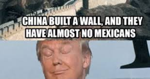 Meme China - china built a wall and they have almost no mexicans funny donald