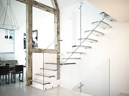 U Stairs Design Shaped L Shaped U Shaped Glass Cantilevered Staircase Aira Glass