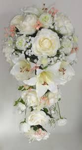 Silk Bridal Bouquet Bridal Shower Bouquets Teardrop Wedding Bouquets The Floral