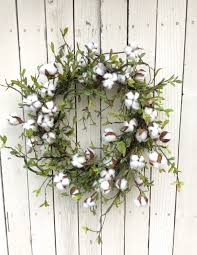 Spring Wreath Ideas Cotton Wreath Cotton Boll Wreath Preserved Cotton Wreath By Keleas