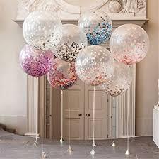 balloons with gifts inside 36 confetti balloons jumbo balloon paper