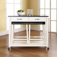solid black granite top kitchen cart island inch white upholstered solid black granite top kitchen cart island inch white upholstered saddle stools and kitchen carts two tone kitchen island with drop leaves ippio