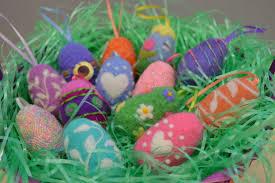 felted easter eggs gorgeous needle felted easter eggs living felt