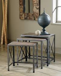 Rustic Round End Table Vennilux Nesting End Tables From Ashley T500 716 Coleman Furniture