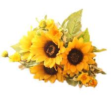 meiliy 1bouquet artificial silk sunflower 7 stems flowers for home