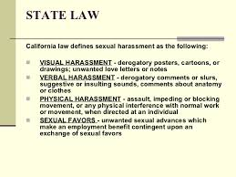 sexual harassment student packet power point