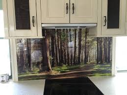 kitchen backsplash pictures printed on glass rustic backsplash