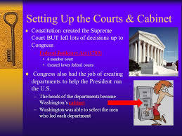 who was in washington s cabinet constitution and new republic setting up the new republic