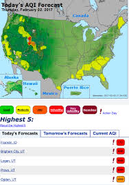 Provo Utah Map by Utah Cities Ranked With Worst Air Quality In Nation During