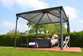 Pergola Gazebo With Adjustable Canopy by Gazebo Roof Panels Roofing Decoration