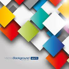 3d color geometric shapes vector background cosas pinterest