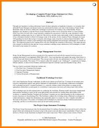Sample Resume With Summary Statement Project Overview Statement Template Contegri Com