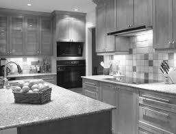 gray granite countertop material has shades of brown lines and