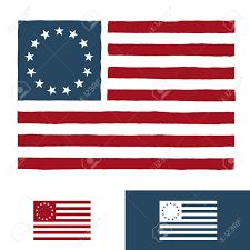 Stars On Chicago Flag Original Vintage American Flag Design With 13 Stars Royalty Free