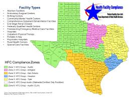 Tx County Map Compliance Zones Health Facility Compliance Group