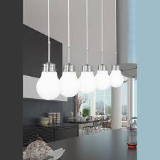 le glã hbirnen design pendelleuchte glühbirnen optik dekoleuchte in weiß