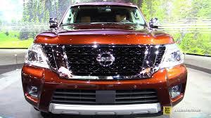 nissan platinum armada 2017 2017 nissan armada exterior and interior walkaround debut at