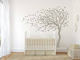 Bird Wall Decals For Nursery by Blowing Tree Flying Birds Wall Decal Sticker Tree Wall Decal