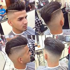 long top short sides hairstyle men slick back undercut hairstyle