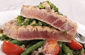 Tuna Salad Mediterranean Style Grilled Mediterranean Ahi Tuna Recipe Sparkrecipes