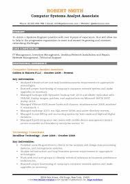 Sap End User Resume Sample Computer Systems Analyst Resume Samples Qwikresume