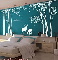 vinyl tree wall decal wall sticker deer decal forest decal zoom