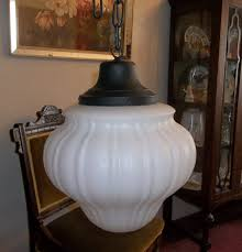 antique kitchen lighting fixtures vintage schoolhouse pendant milk glass hanging ceiling fixture