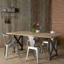 industrial kitchen table furniture idea for lake house table legs of table and metal chairs salvaged