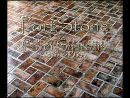 portstone brick flooring
