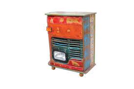 Schlafzimmer Kommode Shabby Vintage Kommode Barschrank Stahl Holz Massiv Designermöbel