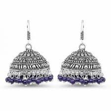 bluestone earrings earrings blue jhumka earrings online shopping india