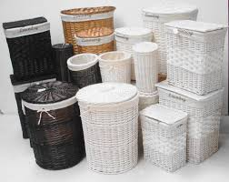 White Wicker Bookcase by Furniture Wicker Storage Basket Ideas To Make Your Room More