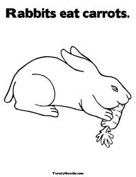 bunny eating carrot clipart 29