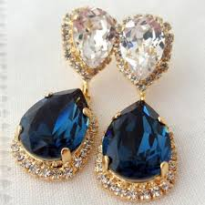 navy blue earrings best navy blue chandelier earrings products on wanelo