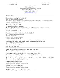Resume Psychology Cover Letter Psychology Resume Samples Clinical Psychology Resume