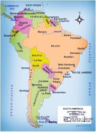 Map Of Venezuela Highlighted Chile On Map Of South America With National Flag Stock
