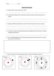 Atomic Structure And The Periodic Table Worksheet Answers by Atomic Structure Worksheet By Edp10ch Teaching Resources Tes