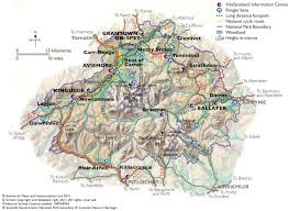 Us National Parks Map Maps Of Aviemore Within The Cairngorms National Park