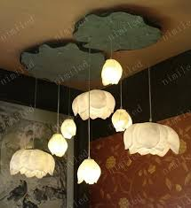 Diy Ceiling Light by Wholesale Nimi160 Creative Diy Art Resin Lotus Lamps Ceiling