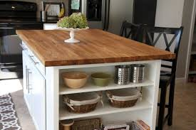 Butcher Block Top Kitchen Island Builder Grade Kitchen Island Expansion With Butcher Block Top And