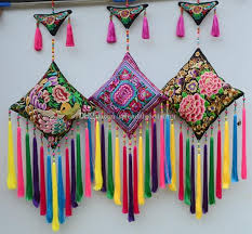 handmade embroidered ethnic wall hanging pendant wall