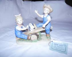 Home Interior Collectibles Denim Days Figurine Etsy