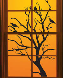thanksgiving decorations window clings frugal handcrafted
