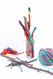easy crafts for kids yarn sticks babble dabble do