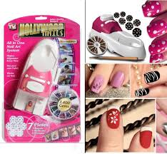 new fashion hollywood nails all in one nail art system kit as seen