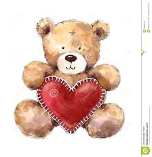 valentines day teddy bears valentines day teddy holding a big heart stock illustration